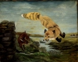 M966.58.3 | Fox chasing Rabbit. | Painting | Anonyme - Anonymous |  |