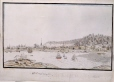 M2001.106.2   The North West View of Montreal   Painting   Richard Dillon     