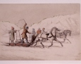 M991X.5.1072 | Winter scene with two racing sleighs | Drawing | Cornelius Krieghoff (1815-1872) |  |