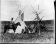 MP-1973.49.140 | Emonis (The Otter) and camp, Sarcee, near Calgary, AB, about 1885 | Photograph | William Hanson Boorne |  |