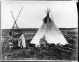 MP-1973.49.142 | Big Plume's camp, Sarcee, near Calgary, AB, about 1885 | Photograph | William Hanson Boorne |  |