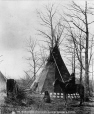 MP-1973.49.167 | Namoosita Otokeman and tipi, Sarcee, near Calgary, AB, about 1885 | Photograph | William Hanson Boorne |  |