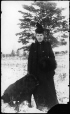 MP-1974.133.93   Miss Hemming with Newfoundland dog, Drummondville, QC, about 1900   Photograph   Charles Howard Millar     