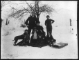 MP-1974.133.101 | Charles H. Millar's family outside in snow, Drummondville, QC, about 1900 | Photograph | Charles Howard Millar |  |