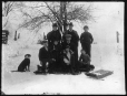 MP-1974.133.102 | Charles H. Millar's family outside in snow, Drummondville, QC, about 1900 | Photograph | Charles Howard Millar |  |