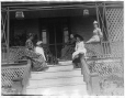 MP-1974.133.178   Group of unidentified women and children seated on verandah, Drummondville, QC, about 1895   Photograph   Annie McDougall     