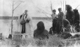 MP-1976.26.37 | A primitive christening by the Rev. Woodhall, about 1910 | Photograph | Samuel Herbert Coward |  |