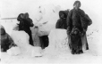MP-1976.26.50 | Inuit group at winter quarters, QC (?), about 1910 | Photograph | Samuel Herbert Coward |  |