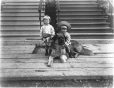MP-1977.76.130 | Vennor, Alfred and Bismarck (the dog), 254 Olivier Ave., Westmount, QC, 1905 | Photograph | Alfred Walter Roper |  |