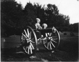 MP-1977.76.132 | Alfred & Vennor on old Cannon, Westmount Park,  Westmount, QC, 1905 | Photograph | Alfred Walter Roper |  |