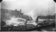 MP-1977.76.168 | Arena fire, corner Wood Avenue & Western, Westmount, QC, 1917 | Photograph | Alfred Walter Roper |  |