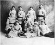 MP-1977.9.63 | Atwater group, members of Tuque Bleu Toboggan Club, Montreal, QC, about 1880 | Photograph | Summerhayes & Walford |  |