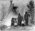 MP-1979.66 | Aboriginal family near Prince Albert, SK, 1919 | Photograph | Walter Cross |  |