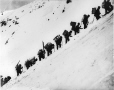 MP-1979.111.18 | Climbing Chilkoot Pass, Klondike Gold Rush, Alaska, 1898 | Photograph | Edwin Tappan Adney |  |