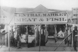MP-1979.111.32 | Fish market showing 50 lb salmon, Dawson, YT, 1898 | Photograph | Edwin Tappan Adney |  |
