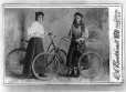 MP-1982.15.8 | Laura & Francee (or Lillian) Snowball with bicycles, Fredericton, NB, about 1900 | Photograph | Burkhardt G. A. |  |