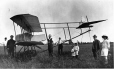 MP-1985.1.24 | Pollien biplane, near Ste-Hélène Street, St- Lambert, QC, 1915 | Photograph | William Murray (?) |  |