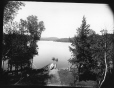 MP-1985.31.50 | Lake from Lawlers(?), Sixteen Island Lake, QC, about 1900 | Photograph | N. M. Hinshelwood |  |