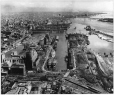 MP-1985.47.1   Aerial view of Montreal harbour, QC, about 1945   Photograph   Anonyme - Anonymous     