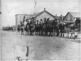 MP-1986.64.2 | Parade of Blackfoot Indians, Fort McLeod, AB, 1905 | Photograph | Miss Campbell |  |