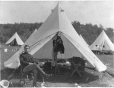 MP-0000.2282 | Victoria Rifles officer in front of tent, about 1915 | Photograph | Anonyme - Anonymous |  |