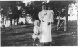 "MP-1988.40.7 | Nurse, with Errol and Lucille Pacaud, ""Woodlands"", QC, 1908 