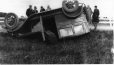MP-1988.59.7 | Overturned car, south of Montreal, QC, about 1935 | Photograph | Frank Randall Clarke |  |
