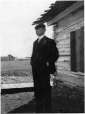 MP-1988.75.1 | George Richard Tinning, at house in McLeod, AB, 1905-06 | Photograph | George Richard Mrd. Tinning |  |