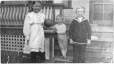 MP-1988.75.21 | Grace, Bob, and Campbell Tinning on stairs, Lethbridge, AB, 1916 | Photograph | Anonyme - Anonymous |  |