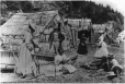 MP-1994.26.78 | Aboriginal bark huts and basket maker, Murray Bay, QC, about 1890 | Photograph | Livernois |  |