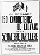 ANC-C95744 | 150 horse-drivers wanted for the 57th Artillery Battery | Poster |  |  |