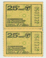 C286.33 | 25 cent ticket issued by the Montreal Transportation Commission | Ticket |  |  |