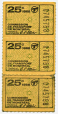 C286.34 | Billets de 25 cents de la Commission de transport de Montréal | Billet |  |  |