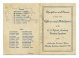 C288_B.03 | Reception and Dance in Honor of the Officers and Midshipmen of the U.S. Naval Academy Practice Squadron | Dance card |  |  |
