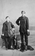 I-10583.1 | Charles and Edward Ermatinger and dogs, Montreal, QC, 1864 | Photograph | William Notman (1826-1891) |  |