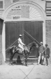 "I-12787.1 | Capt. Eliot's horse ""Garrzone"" and jockey, Craig Street, Montreal, QC, 1864 