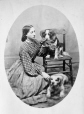 I-24853.0.1 | Miss Ryland and two dogs, copied in 1867 | Photograph | Anonyme - Anonymous |  |