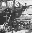 I-76319 | Loading ship with square timber through the bow port, Quebec City, QC, 1872 | Photograph | William Notman (1826-1891) |  |