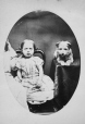 I-8028.0.1 | Miss Felkin and dog, copied 1863 | Photograph | Anonyme - Anonymous |  |