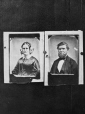 I-9402.0.1   Mr. Harrison and Mrs. Harrison, copied for lockets, 1863   Photograph   Anonyme - Anonymous     