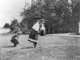 II-175593.0 | Two girls playing croquet, copied for G. Drinkwater in 1909 | Photograph | Anonyme - Anonymous |  |
