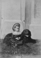 II-42430.1 | Missie Laing and dog, Montreal, QC, 1876 | Photograph | William Notman (1826-1891) |  |