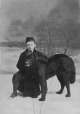 II-56652.1 | Master Sandham and dog, Montreal, QC, 1880 | Photograph | Notman & Sandham |  |