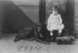II-81660.1 | Baby Moorhouse and dog, Montreal, QC, 1886 | Photograph | Wm. Notman & Son |  |