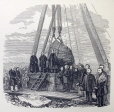 M15934.45 | Laying the Monumental stone, marking the graves of 6000 immigrants near Victoria Bridge | Print |  |  |