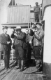 "M2000.113.6.192 | Hugh A. Peck and crew on deck of steamer ""S.S. Adventure"", 1909 