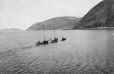 M2000.113.6.209 | Two Revillon Freres sloops being tugged by small motor boat; Wakeham Bay (Kangiqsujuaq), Hudson Strait, 1909 | Photograph | Hugh A. Peck |  |
