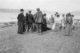 M2000.113.6.219 | Gathering at the Revillon Freres post, Wakeham Bay (Kangiqsujuaq), Hudson Strait, NU, 1909 | Photograph | Hugh A. Peck |  |
