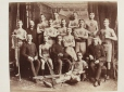 M2000.21.7.28 | Lacrosse team, about 1885 | Photograph | Anonyme - Anonymous |  |