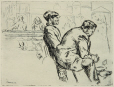M2000.29.3 | Two men in Dominion Square | Print | Ernst Neumann, 1907-1956 |  |